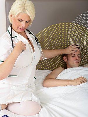 Blonde Mature Nurse Fucked