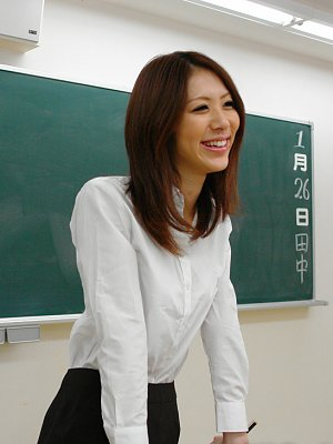 Japanese Teacher Riko Miyase